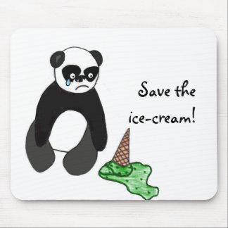 Ahorre la panda del helado tapete de ratones