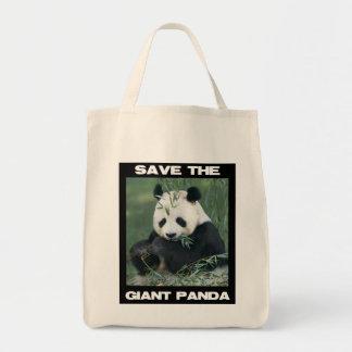 Ahorre la panda gigante bolsa tela para la compra