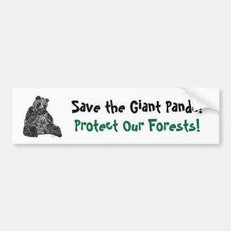 ¡Ahorre la panda gigante Pegatina para el paracho Pegatina De Parachoque