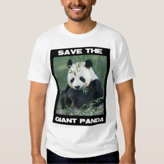 Ahorre la panda gigante playera