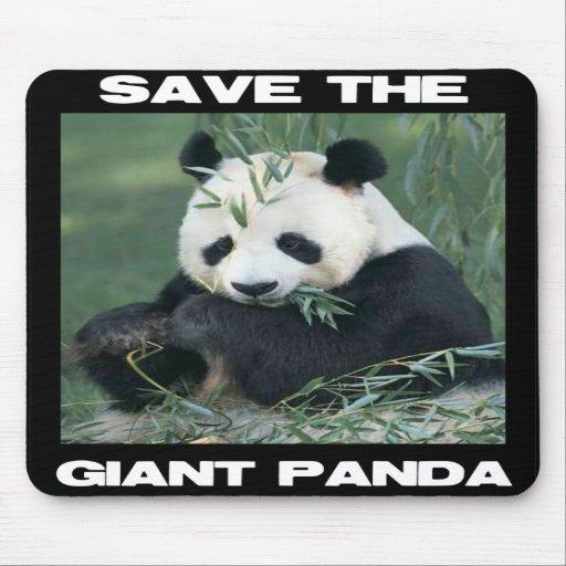 Ahorre la panda gigante alfombrillas de ratones