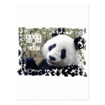 Ahorre la panda gigante tarjetas postales