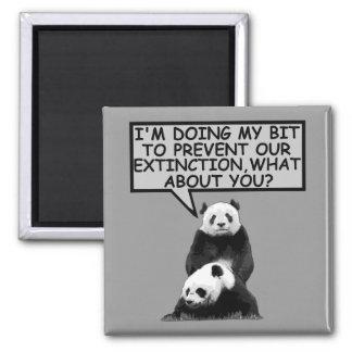 Ahorre la panda iman para frigorífico