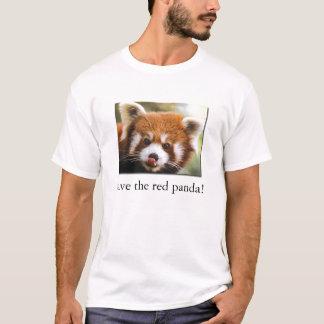 ¡Ahorre la panda roja! La camiseta del niño