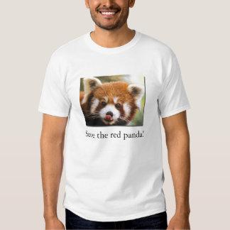¡Ahorre la panda roja! La camiseta del niño orgáni Playera