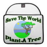 Ahorre la planta del mundo un árbol funda para macbooks