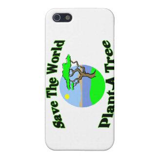Ahorre la planta del mundo un árbol iPhone 5 carcasas