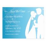 Ahorre la postal azul del boda del invierno de la