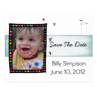 Ahorre la postal de la adopción de la fecha