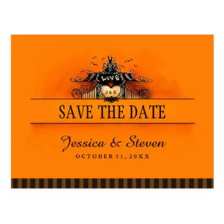 Ahorre la postal de la fecha - amor de Halloween