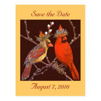 Ahorre la postal de la fecha con los pares cardina