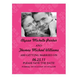 Ahorre la postal de la fecha con su foto (el rosa)