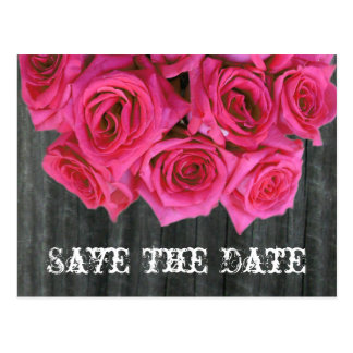 Ahorre la postal de la fecha - ramo color de rosa