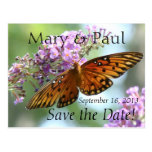 Ahorre la postal de la mariposa de la fecha