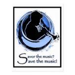 ahorre la postal de la música