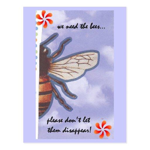 Ahorre la postal de las abejas