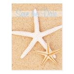Ahorre la postal de las estrellas de mar del gemel