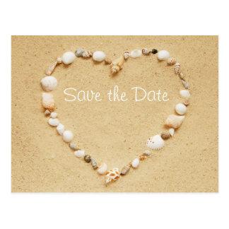 Ahorre la postal del corazón del Seashell de la fe