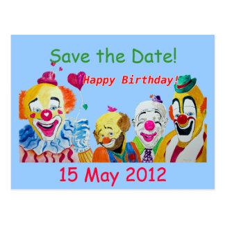 Ahorre la postal del cumpleaños de la fecha