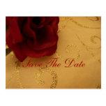 Ahorre la postal del remolino del oro del rosa roj