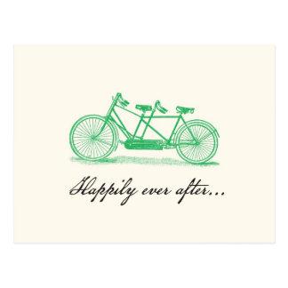 Ahorre la postal Fecha-En tándem de la bici