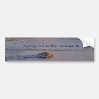 Ahorre la producción de las tortugas de mar… las l pegatina para auto