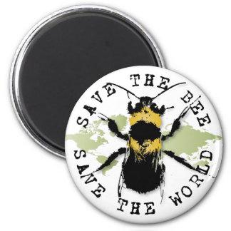 ¡Ahorre la reserva de la abeja… el mundo! Imán del