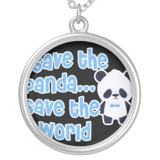 Ahorre la reserva de la panda el mundo colgante redondo