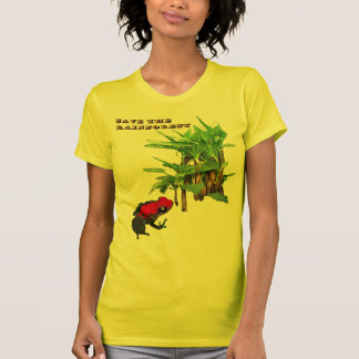 Ahorre la selva tropical camisetas