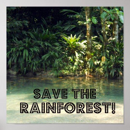 ¡Ahorre la selva tropical! Póster