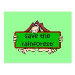 ahorre la selva tropical tarjetas postales