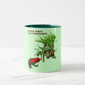 Ahorre la selva tropical tazas