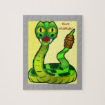 Ahorre la serpiente del traqueteo de la fauna puzzles con fotos