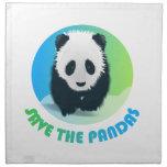 Ahorre la servilleta de las pandas