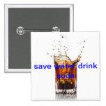 ahorre la soda de la bebida del agua pins