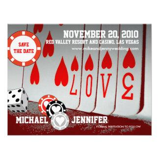 Ahorre la tarjeta 4 del amor de la invitación de l