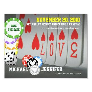 Ahorre la tarjeta 6 del amor de la invitación de
