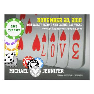 Ahorre la tarjeta 6 del amor de la invitación de l