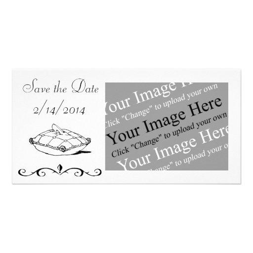 Ahorre la tarjeta adaptable de la foto de tarjetas con fotos personalizadas
