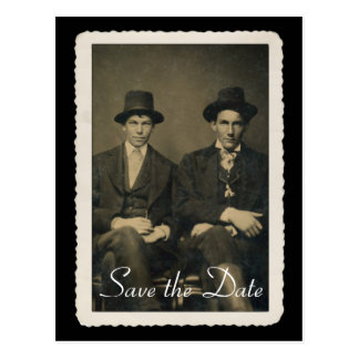 Ahorre la tarjeta de fecha con el retrato del vint postal