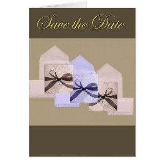 Ahorre la tarjeta de felicitación de la fecha