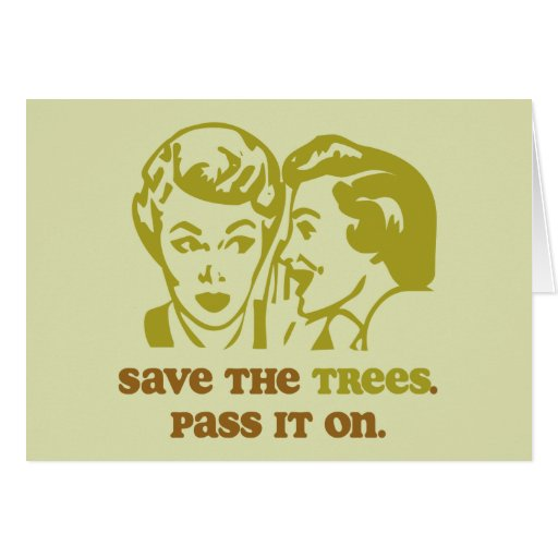 Ahorre la tarjeta de felicitación de los árboles