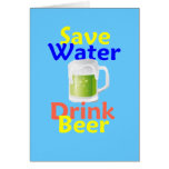Ahorre la tarjeta de la cerveza de la bebida del a