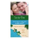 Ahorre la tarjeta de la foto de Honu de la playa d Tarjetas Personales
