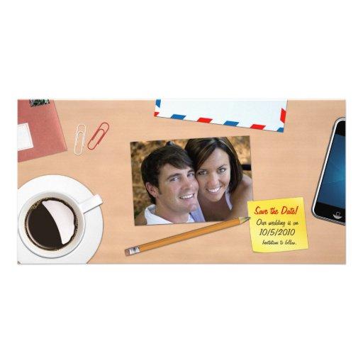 Ahorre la tarjeta de la foto de la fecha tarjetas fotograficas