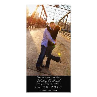 Ahorre la tarjeta de la foto de la fecha tarjeta fotográfica personalizada
