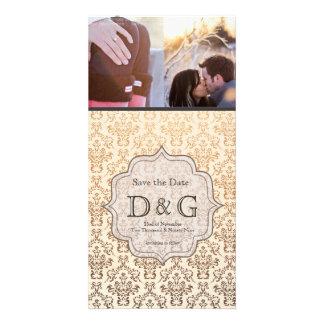 Ahorre la tarjeta del Fillagree del damasco de Cha Tarjetas Personales