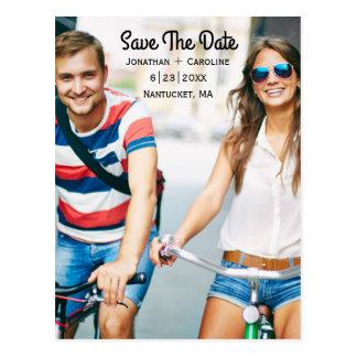 Ahorre la tarjeta el | de la foto de la fecha de tarjeta postal