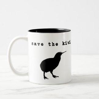 Ahorre la taza de café de Nueva Zelanda del kiwi