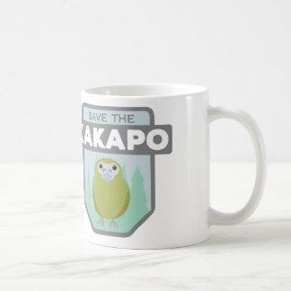 Ahorre la taza de café del Kakapo